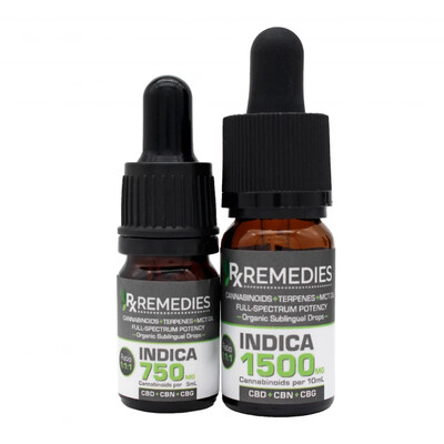 CBD+CBN+CBG MultiCannabinoid Sublingual Drops with Indica Terpenes 1500mg