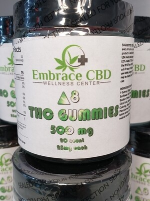 Embrace CBD Delta 8 Gummies 500mg Tropical Fruit Flavored