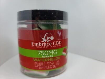 EMBRACE CBD 750mg Delta 8 Gummies (Watermelon Slices)!