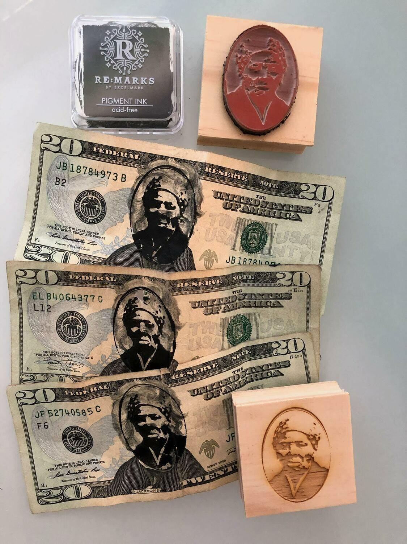Harriet Tubman Rubber Stamp & Stamp Pad
