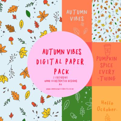 AUTUMN VIBES DIGITAL PAPER PACK