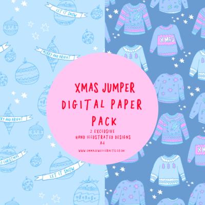 CHRISTMAS JUMPER DIGITAL PAPER PACK