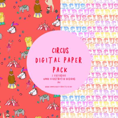 CIRCUS  DIGITAL PAPER PACK