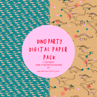 DINO PARTY DIGITAL PAPER PACK