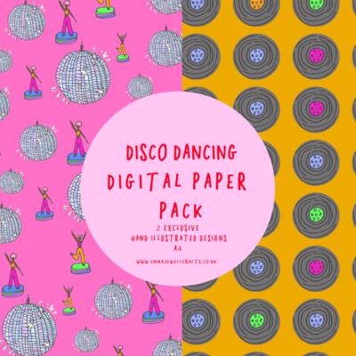 DISCO DANCING DIGITAL PAPER PACK