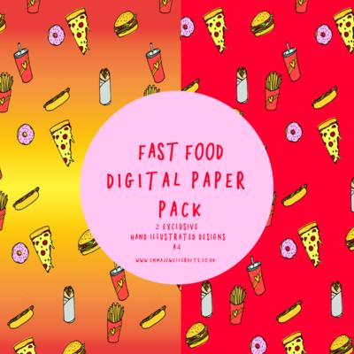 FAST FOOD DIGITAL PAPER PACK