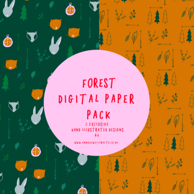 FOREST DIGITAL PAPER PACK