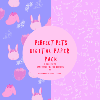 PERFECT PETS DIGITAL PAPER PACK
