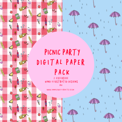 PICNIC PARTY DIGITAL PAPER PACK