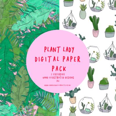 PLANT LADY DIGITAL PAPER PACK