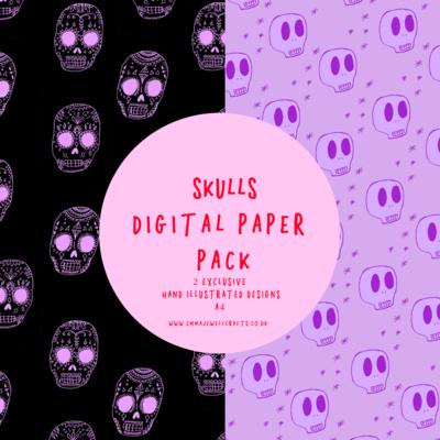 SKULLS DIGITAL PAPER PACK