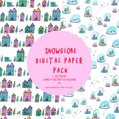 SNOWGLOBE DIGITAL PAPER PACK
