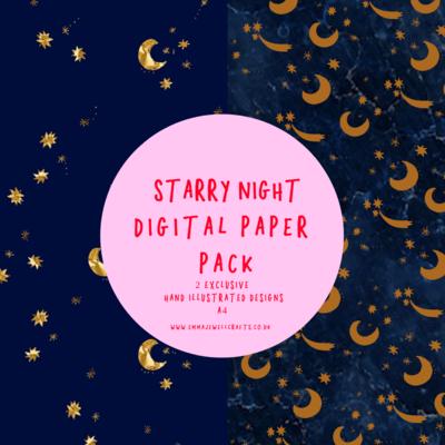 STARRY NIGHT DIGITAL PAPER PACK