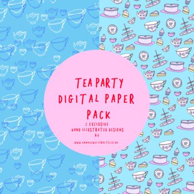 TEA PARTY DIGITAL PAPER PACK
