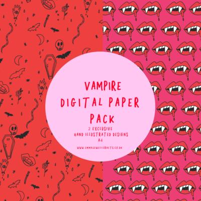 VAMPIRE DIGITAL PAPER PACK