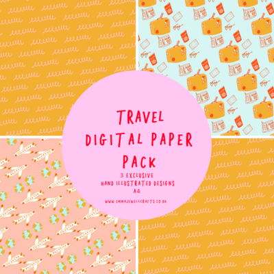 TRAVEL DIGITAL PAPER PACK