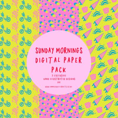 SUNDAY MORNINGS DIGITAL PAPER PACK