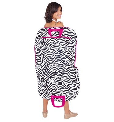 ZEBRA PRINTED GARMENT BAG