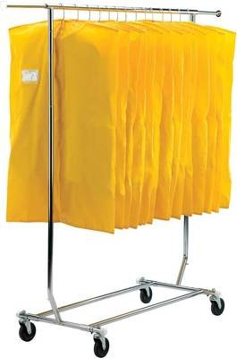 COLLAPSIBLE ROLLING GARMENT RACK