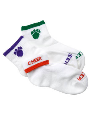 PAW PRINT CHEER SOCK