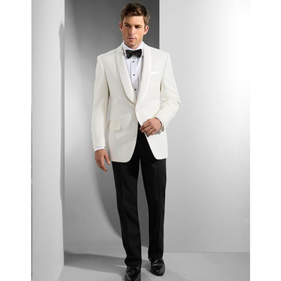 BLAZER WHITE - 1 BUTTON- SHAWL COLLAR