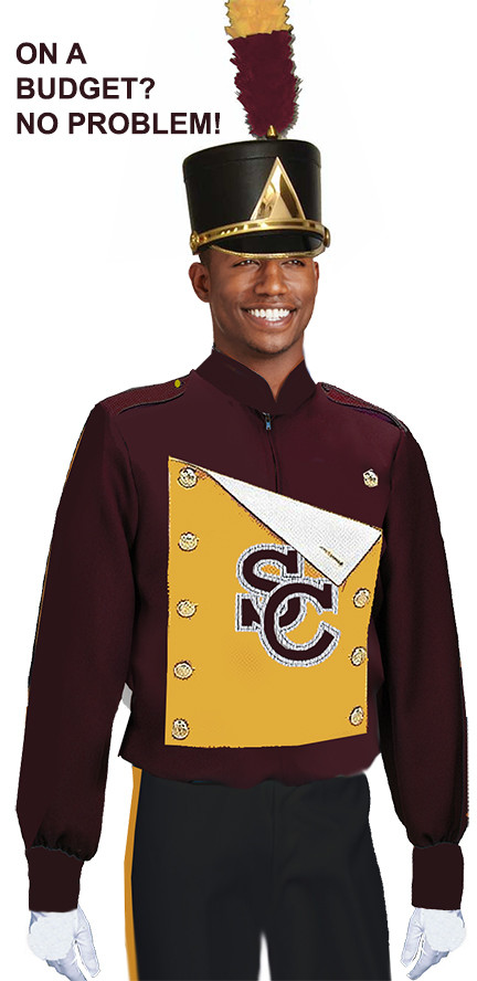 IN STOCK MARCHING BAND BLOUSE WITH SHIELD
