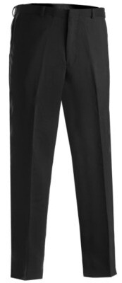 MENS POLYESTER FLAT FRONT PANTS