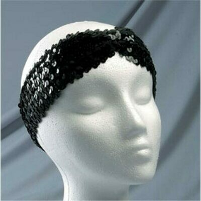 HEADBAND WITH PLEAT STRETCH SEQUIN 2