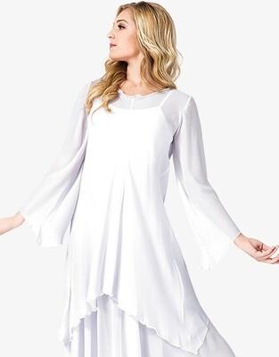 WORSHIP LONG SLEEVE WHITE TUNIC