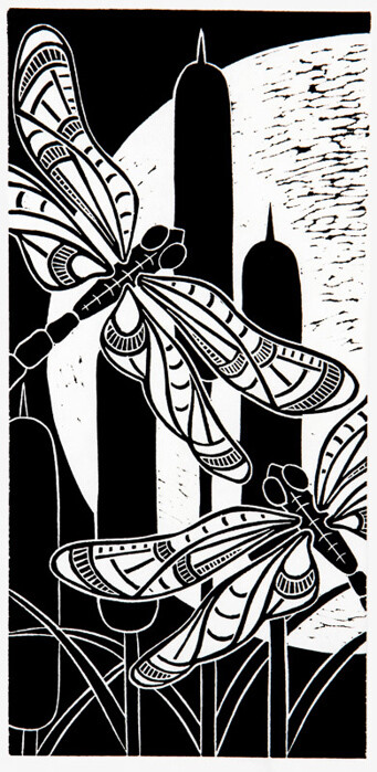 Dragonfly Moonlight