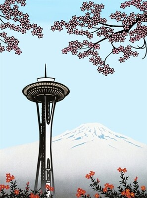 Space Needle in Spring