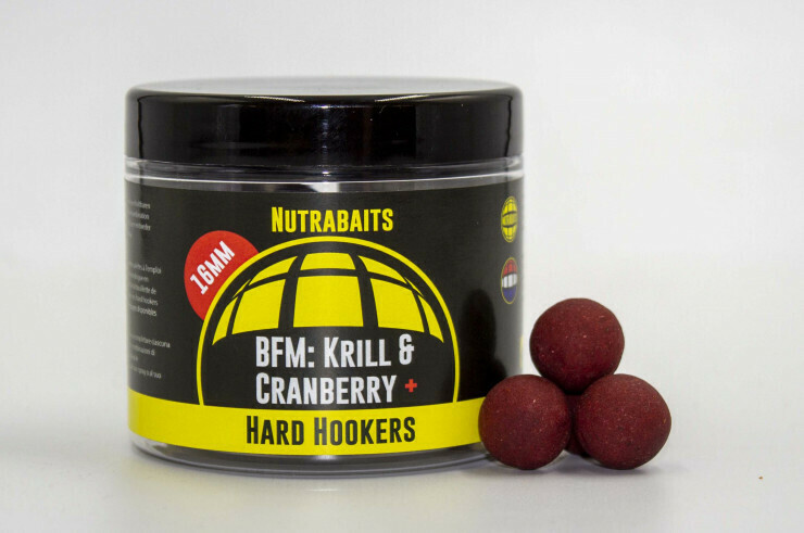 Бойлы особой жесткости Hard Hookers BFM Krill&Cranberry+
