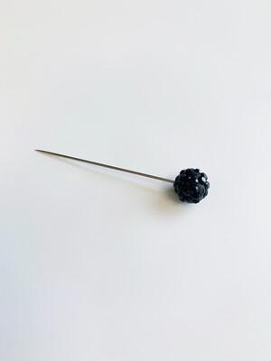 Black Glitter Pin Large