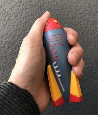 DIY Human Rocket Ship Stress Reliever