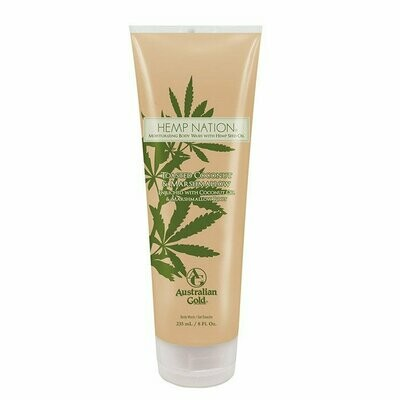 AUSTRALIAN GOLD HEMP NATION TOASTED COCONUT & MARSHMALLOW BODY WASH, 8 oz
