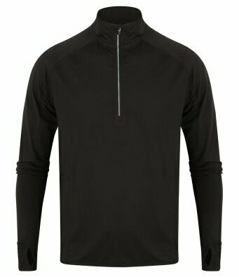 Tombo 1/4 zip through top with club badge