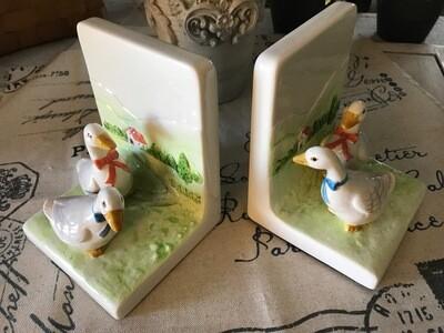 Vintage Otagiri Geese Bookends Pair Made in Japan