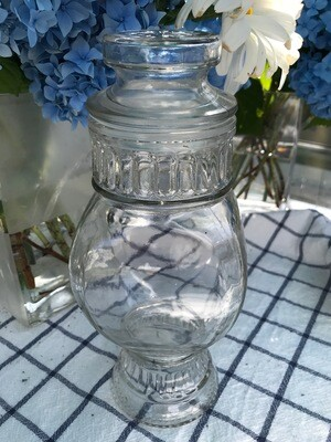 Vintage Square Apothecary Jar with Lid