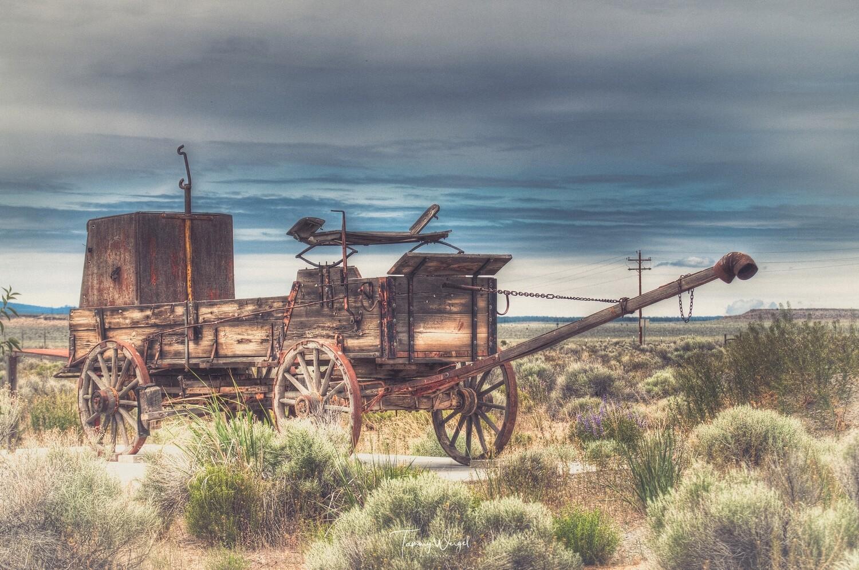 """Farmhouse Art """"Old Rugged Wagon"""" Digital Print"""