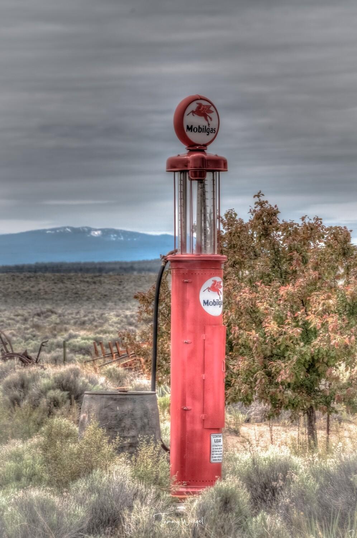 "Farmhouse Art ""Mobile Gas"" Digital Print"