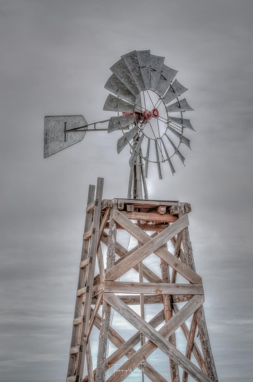 """Farmhouse Art """"Rustic Windmill"""" Digital Print"""