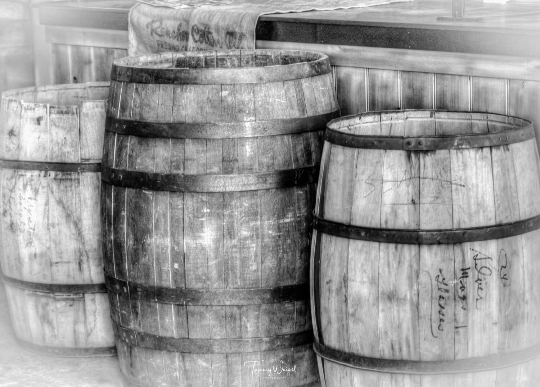 "Farmhouse Art ""Wood Barrels"" Digital Print"
