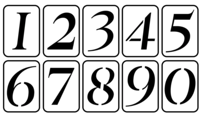 JRV Numbers Stencil