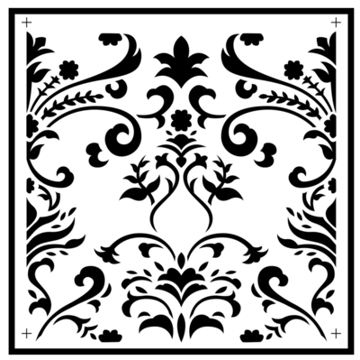 JRV Damask Tile Stencil