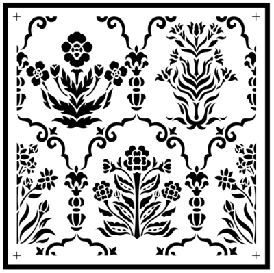 JRV Botanical Tile Stencil