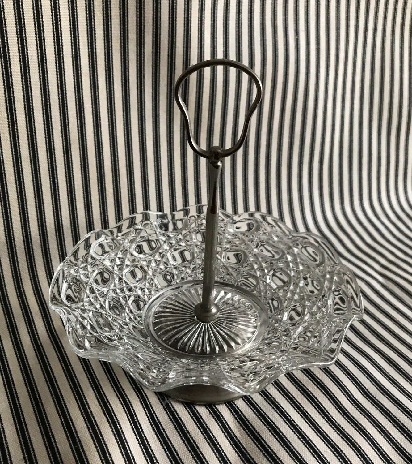 Glass and Silver Plate Dish