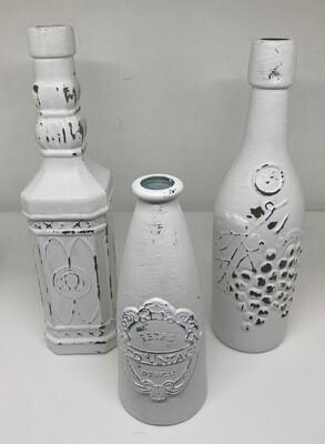 White Decorative Bottles