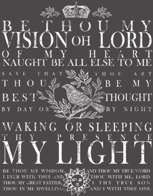 IOD BE THOU MY VISION 24×33 DECOR TRANSFER