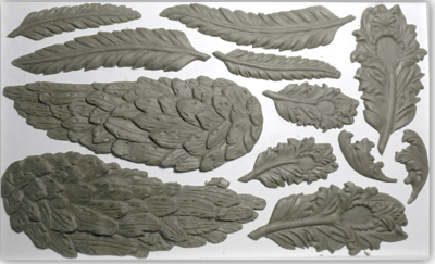 IOD WINGS & FEATHERS 6×10 DECOR MOULD