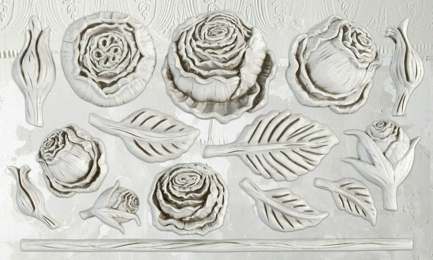 IOD HEIRLOOM ROSES 6×10 DECOR MOULD